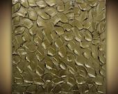 ORIGINAL Art Metallic BRONZE Modern Abstract Art- Home Decor Canvas Wall Art Large Texture Palette Knife Painting Mix&Match by Susanna