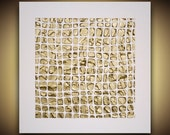 Original Abstract Art Modern Textured Paintings - Gold