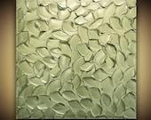 ORIGINAL Metallic Sage Green Abstract Painting Texture Home Decor Wall Art Large Modern palette knife painting MIX&MATCH Susanna