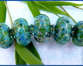 Mermaid Delight Boro Lampwork Bead Set