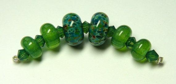 Treasure of the Sea Boro Lampwork Bead Set