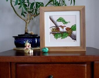 Framed Art Print - The Love Nest