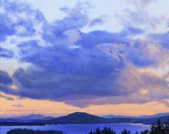 Art Print - Rangeley Lake in August,  12 x 12 size