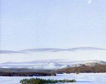Art Print - Rangeley Lake in January