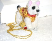 Dress Up Dog Sapphire and Gold Necklace