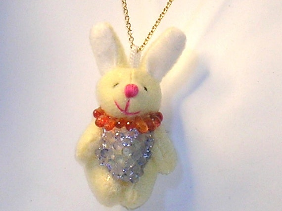 Dress Up Bunny Sapphire and Gold Necklce