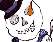 Zombie Snowman Card