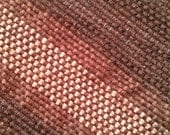 Amaizing Handwoven Striped Fall Scarf In Luscious Cocoa Brown