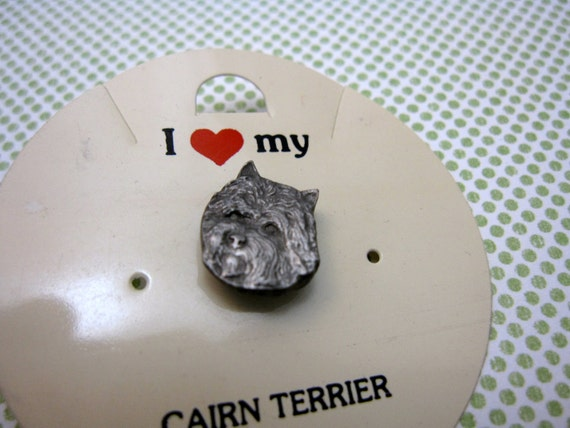 Cairn Terrier Pin Hat Tie Tack