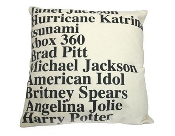 GOOGLE NEWS TOP SEARCHES IN 2005 PILLOW