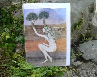 Earth Woman Greetings Card