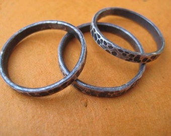 Hammered Stacking Rings - Stackable Bands
