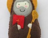 Saint Benedict Felt Saint Softie