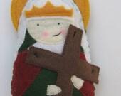 Saint Helena of the True Cross Felt Saint Softie