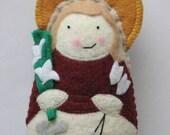 Saint Philomena Felt Saint Softie
