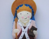 Saint Margaret of Scotland Felt Saint Softie