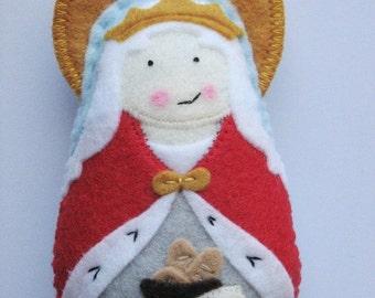 Saint Elizabeth of Hungary Felt Saint Softie