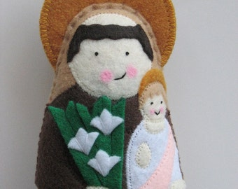 Saint Anthony of Padua Felt Saint Softie