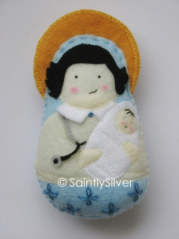 Catholic Saint Felt Dolls