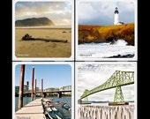 Cities of Oregon - Ceramic Coaster Set