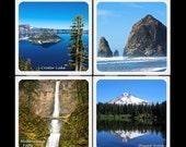 Natural Beauty of Oregon - Ceramic Coaster Set