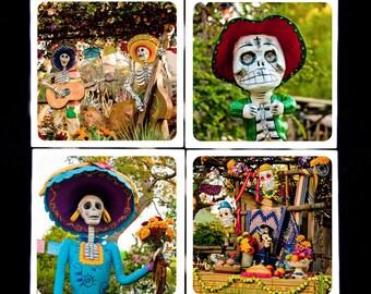 Day of the Dead Dias de las Muertos- Ceramic Coaster Set