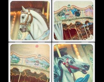 slcook52  Carousel Set Ceramic Coasters