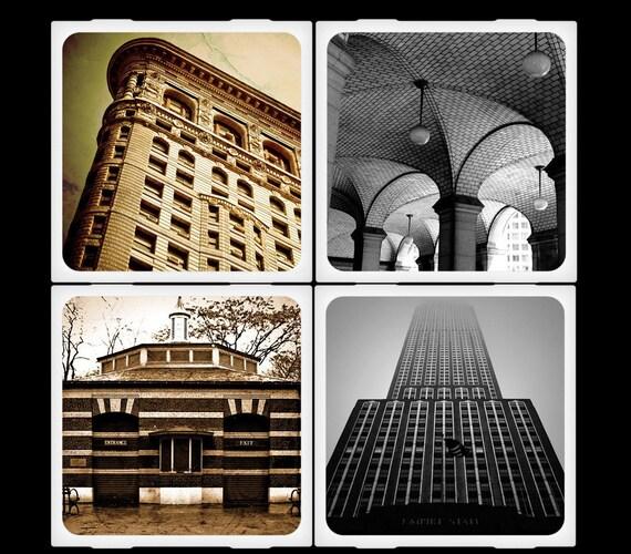 New York Architecture - Ceramic Coaster Set