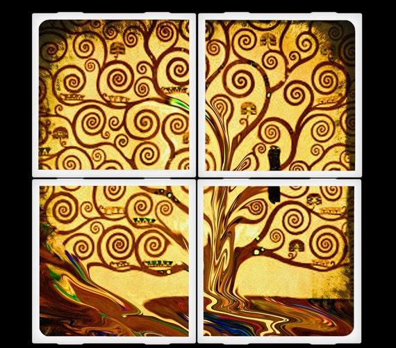 LDphotography Tree of Life Ceramic Coasters Set
