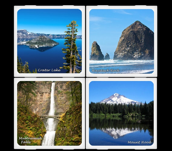 Natural Beauty of Oregon - Ceramic Coaster Set