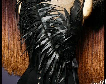 Devil's Ink Shoulder Sash and Necklace by Louise Black