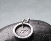 Pure JOY -  Hand Stamped Charm Pendant