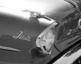 Fiesta - 8x10 Black and White Metallic Classic Car Photograph - IN STOCK