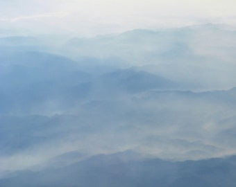 Photography - Smoked - 8x10 Fine Art Photograph  - Blue Mountains in Smoke