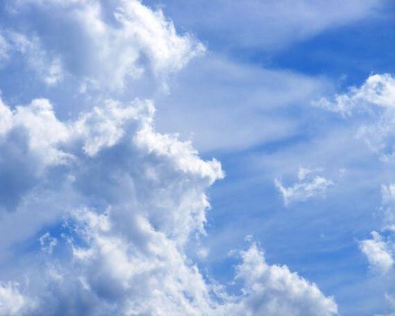Crash - 8x10 Nature Photograph - Clouds in Blue Sky