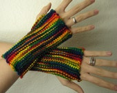 Rainbow Wrist Warmers Size Small