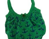 RESERVED Hola Sailor Bag in Green - Psycho Renewal