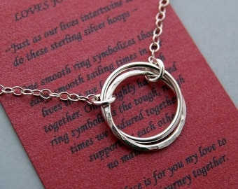 LOVES JOURNEY NECKLACE Sterling Silver - Gift for Wife or Girlfriend