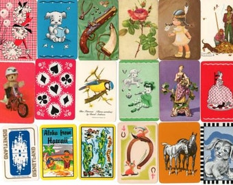 25 x Vintage Miniature Playing Cards
