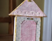 Darling Shabby Chic Vintage style photo frame house baby girl