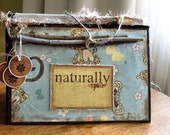 Naturally You  Altered book scrapbook album vintage style for girls
