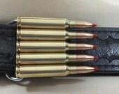 Bullet Belt Buckle Brass Military 5.56 V-Max - Gifts for Military Men