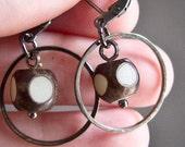 Simple Hoop, Everyday Earrings - Coconut
