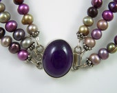 Shades of Purple Freshwater Pearl Necklace