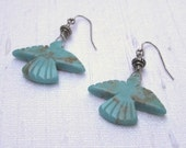 Turquoise Thunderbird Earrings Swirly Girls