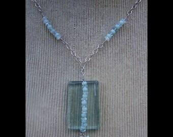 Blue Quartz and Amazonite Necklace by Swirly Girls