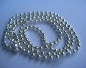 Reserved for Donna STERLING Silver Ball Chain 20 Inches