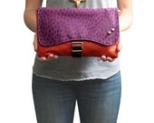 SALE 25% OFF Agatha- Colour Block Made of Reclaimed Leathers