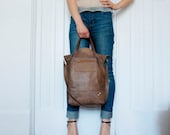 Entourage City Tote- In Distressed Recycled Leather