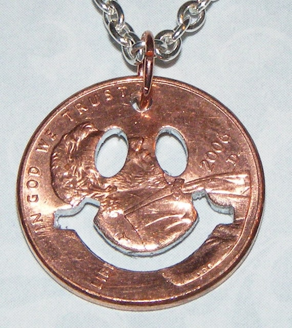 Happy Face Penny Necklace